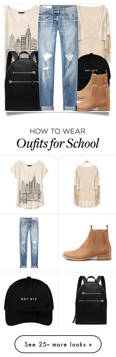 """""""School style"""" by madeinmalaysia on Polyvore featuring Banana Republic, Mollini, Mulberry and rag & bone"""