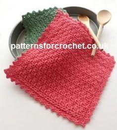 Free crochet pattern simple pot holder usa