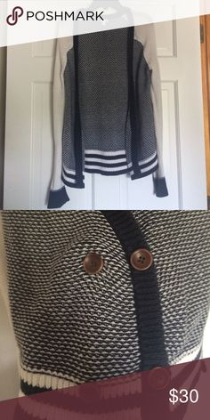 Striped Cardigan Button front detail  No trades or other apps. Make me a reasonable offer! 🌿🌤💞 bp Sweaters Cardigans