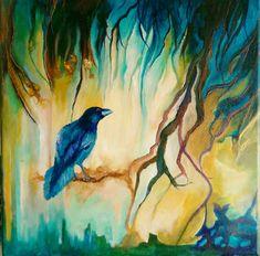 "40×40cm acrylic abstract painting. Original art by Nurten Koçboğan ""Daydream"""