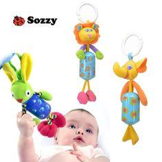 Baby Infant Kids Animal Plush Rattles Toys Stroller Hanging Bell Pram Gifts