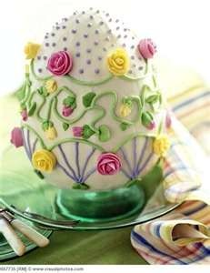 queenbee1924:  (via Very pretty Easter Cake   Easter Parade ❤   Pinterest)