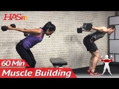 60 Min Upper Body Workout at Home with Dumbbells - Chest and Back Routine Exercises for Women & Men - YouTube
