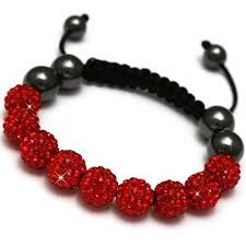 DIY Shamballa bracelets - red Shamballa bracelet is associated with the spine while emotionally, it can be associated with passion and sexuality.