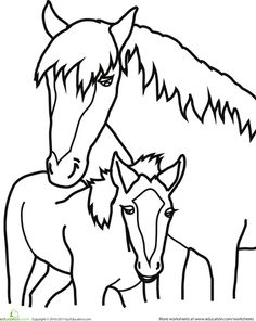 Baby Horse Coloring Pages Horse, Baby Horse Running