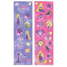 "party planning fun celebrate decorating decor events happy birthday enjoy kids children cute  tangled Amazon.com: Amscan Disney Rapunzel Sticker Strip Favor Fun Pack for Parties and Celebrations (8 Piece), 6-5/16 x 1-7/8"", Multicolored: Toys & Games"