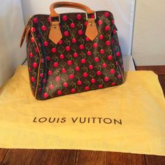 AUTHENTIC LOUIS VUITTON CHERRIES HANDBAG WITH KEY LOCK AND DUSTBAG #LouisVuitton #BAG
