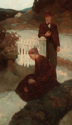 Mainstream Illustration, FRANK EARLE SCHOONOVER (American, 1877-1972). Woman Kneeling,probable story illustration, 1903. Oil on canvas. 24 x 14 ... Image #1 Figure Painting, Human Painting, Dark Horse, Traditional Art, View Image, Illustration Art, Painting Illustrations, Art History, Illustrators