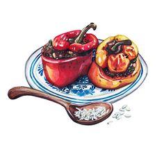 Food Illustrations for SWISS magazine on Behance