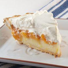Peach Cream Pie by EvilShenanigans, - I made this and it looked like the picture!