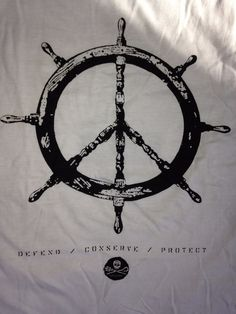 Peace Wheel T-shirt - Official Sea Shepherd Conservation Society #Unbranded #CrewNeck