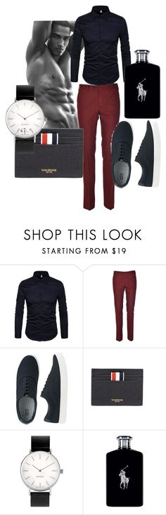 """men"" by daizysheila ❤ liked on Polyvore featuring PT01 Pantaloni Torino, Uniqlo, Thom Browne, Myku, Ralph Lauren, men's fashion and menswear"