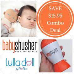The Lulla doll and Baby Shusher combo deal