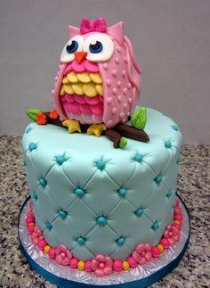 mooie uilen taart idee