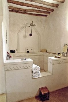 a deep big bathtub that works well as a shower stall, too. Exactly what we need.
