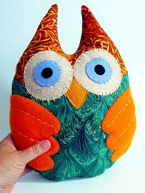 Denise Loves Art: DIY- Make This Cute Owl Plushie with My Free Template