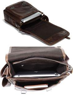 Antique Genuine Leather Messenger Bag / Satchel / Ipad Bag
