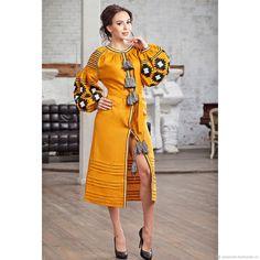 Linen dress | Купить Вышитое льняное платье. Льняное бохо платье. Вышиванка в интернет магазине на Ярмарке Мастеров