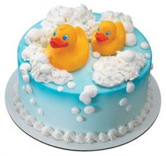 Cake Idea- put real rubber ducks on top so it looks like they are in bubbles; site has some ideas for a party