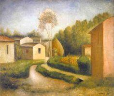 Carlo Carrà Autunno in Toscana (il pagliaio) 1927