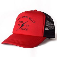 Lightning Bolt Trucker Hat Pure Juice Red   SUNSETSTAR Red Wing Shoes efb4049ef914