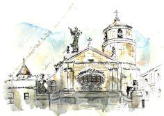 Basílica de la Mercè, en el barrio gótico de Barcelona- Barcelonink