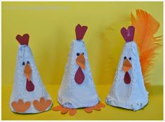 Skapligt Enkelt: Sötaste gänget Diy For Kids, Crafts For Kids, Egg Carton Crafts, Hen Chicken, Elementary Art, Spring Crafts, Easter Crafts, Rooster, Art Projects