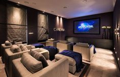 Fantastic Basement home theater - So you are thinking about transforming your basement into a home theater? Basements are an ideal location for a home theater as the area has some all-natural advantages over others in your home. #hometheater #hometheaterdesign #basement #basementhometheater #homedecor
