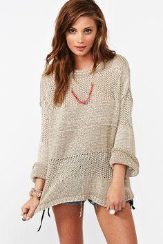knit oversized sweater