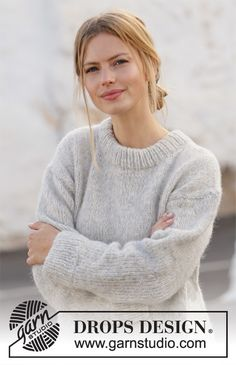 Free knitting patterns and crochet patterns by DROPS Design Free Knitting Patterns For Women, Sweater Knitting Patterns, Hand Knitting, Scarf Patterns, Drops Patterns, Start Knitting, Finger Knitting, Knitting Machine, Crochet Patterns