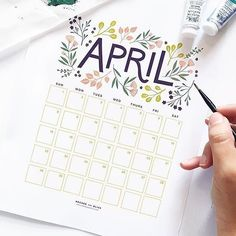 *edit* free download of this gorgeous calendar on @archerandolive website!! . . Today is all about spring flowers. I love the simple flowers in this illustration from @archerandolive . ⠀ .⠀ .⠀ Be sure to click on the link in my bio to SHOP MY INSTAGRAM FEED.⠀ .⠀ .⠀ I'm going to be busy busy busy packing up all the preorders today and this weekend. So if you've preordered a notebook - get excited!! If you didn't get a chance to preorder, we still have some designs avail