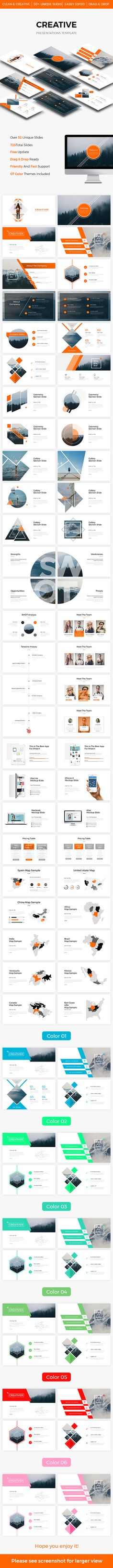 Creative Keynote Template 2017 — Keynote KEY #seo #advertisement • Available here → https://graphicriver.net/item/creative-keynote-template-2017/20654396?ref=pxcr
