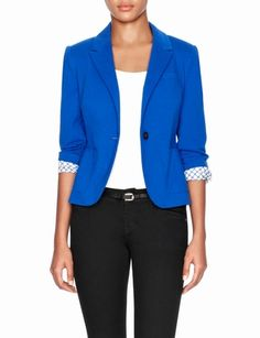 Shirred Sleeve Ponte Blazer from THELIMITED.com