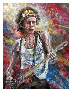 Keith Richards by Tom Noll