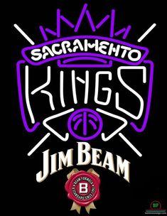 Jim Beam Sacramento Kings Neon Sign NBA Teams Neon Light