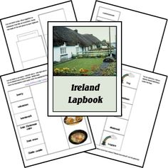 Ireland Lapbook from HSShare Teaching Geography, World Geography, Ireland Country, Cultural Studies, Social Studies, Tot School, Primary School, Elementary Schools, Cycle 2