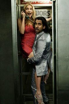 Naveen Andrews and Elizabeth Mitchelle