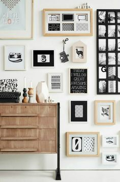 Gallery wall home decor inspiration.