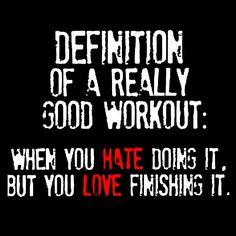 I love my tough workouts