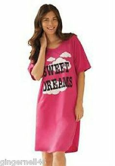 Dreams & Company Pink Nightgown Sizes 3X/4X and 5X/6X Sleepshirts Cotton New