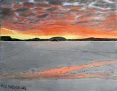 #Camp-of-the-Woods #Sunset 11 x 14 oil on canvas board. #art #artist #Adirondacks #speculator #painting #art #NewYork #upstate  //tinyurl.com/jxa3b82