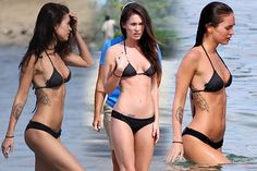 MEGAN FOX WORKOUT     Megan Fox is lean, and toned, and pretty. Here is your very own Megan Fox Workout, just like this.  Megan Fox stats:  (1.67 m) tall and she weighs 114 lbs (51.82 kg).  For my own opinion, she¡¯s a tad skinny, but I would still take her to dinner. Oh Megan you lucky thing.