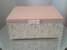 Diy Box, Casket, Home Crafts, Stencils, Decorative Boxes, Storage, Fun, Gifts, Vintage