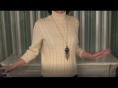 Свитер спицами простой и теплый; 2 варианта рукавов. Свитер спицами1 видео - YouTube