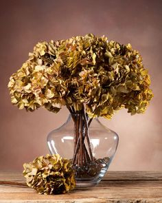 Hydrangea Dried Silk Flower Stem CELADON