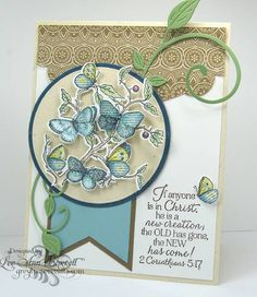 Butterflies in Blue by whippetgirl - Cards and Paper Crafts at Splitcoaststampers