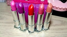 Maybelline Orchid Ecstasy,  Rose Rush, Power Peony, Blushing Bud, Barely Bloomed Rebel Bloom Color Sensational Lipstick