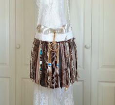 Native American Inspired Fringe Bag   Dream Catcher by Pursuation