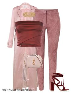 """""""Untitled #210"""" by stylebyharpreet on Polyvore featuring ESCADA, Romeo Gigli, Gianvito Rossi, Yves Saint Laurent and Lele Sadoughi"""