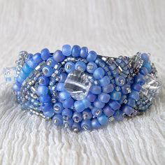💙Jewels of the Sea   Amazing Crystal and Japanese Seed Beaded💙